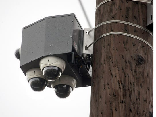 The new cameras, located near Sixth Street's intersections with Warren and Park avenues, will not be monitored. But police will be able to review footage if they need to.