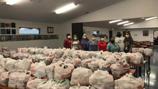 The Choctaw Nation Health Services Authority distributed a record number of meals during the Summer Food Program. Volunteers packaged over 400 kits for children in Wilburton.