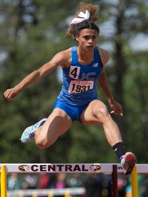 Union Catholic's Sydney McLaughlin wins the 400 meter hurdles at the NJSIAA Meet of Champions at Central Regional High School on Wednesday.