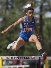 Sydney McLaughlin of  Union Catholic High School wins the 400M hurdles at the NJSIAA Track Meet of Champions at Central Regional High School in Berkeley Twp. on June 8.