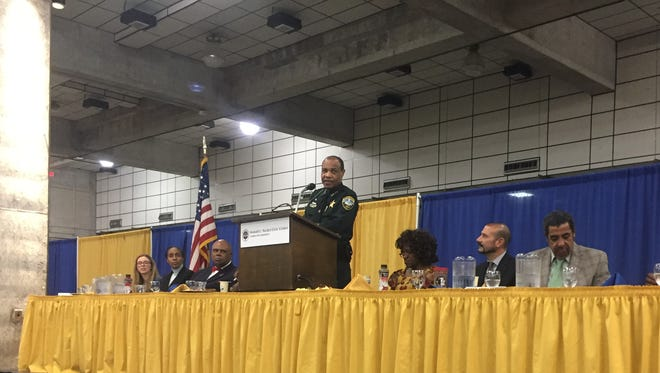 Leon County Sheriff Walt McNeil speaks at the Martin Luther King Jr. 34th Annual Commemorative Dreamers & Doers Program.