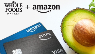 Amazon.com announced Tuesday that Prime members who use the Amazon Prime Visa credit card will get 5% of their purchase back when they shop at Whole Foods.