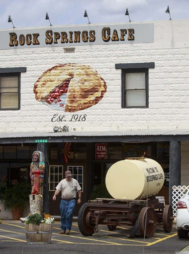 Rock Springs Cafe | Monday through Thursday are the slowest days at this frequently busy pit stop off Interstate 17. If you want to guarantee a specific pie is available, place an order over the phone or online a couple of days ahead of time. Specialty pies take three days. If you are only craving a slice, the restaurant offers a number of different slices to go in the takeout section. | Details: 35900 Old Black Canyon Highway, Black Canyon City. 623-374-5794, rocksprings.cafe.