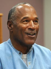O.J. Simpson appears for his parole hearing in 2017 in Lovelock, Nev.
