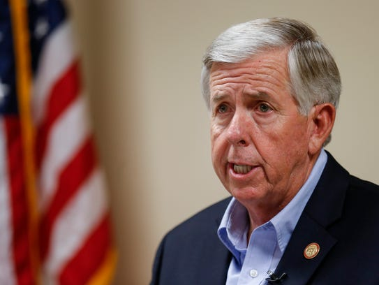 Lt. Gov. Mike Parson speaks at the Greene County Sheriff's