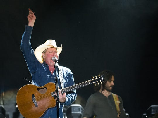 Tracy Lawrence and his band perform at the Country