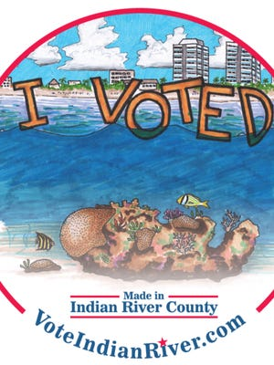 Indian River County's official 'I Voted' sticker for 2017-18.