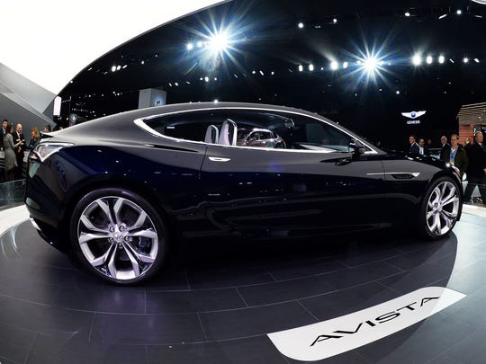 Buick Avista concept coupe is pictured after unveiling