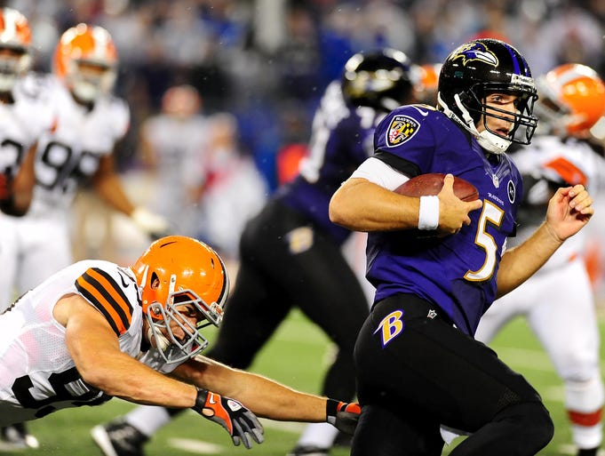 BALTIMORE RAVENS: The Ravens are aiming for their sixth consecutive win at home vs. Cleveland. JOE FLACCO: The Ravens QB is 10-0 as starter vs. the Browns and has passed for 2,037 yards with 12 TDs, 5 INTs & a 92.5 rating.