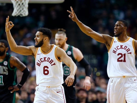 Indiana Pacers' Cory Joseph (6) and Thaddeus Young