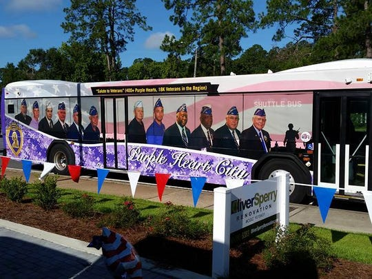 Tallahassee is considered by the Military Order of the Purple Heart to be veteran friendly. Buses provide free transportation to wounded veterans.