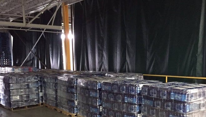 The Dr Pepper Snapple Group donated 24 pallets of water to the residents of Flint.