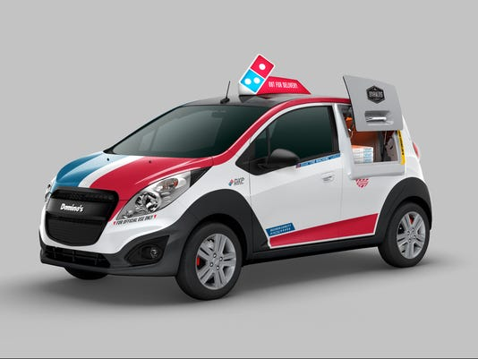 Domino's unveils new pizza-delivery car