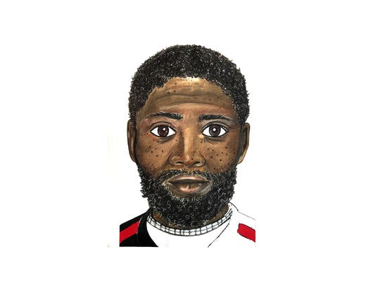 Police sketch of suspect involved in the fatal beating