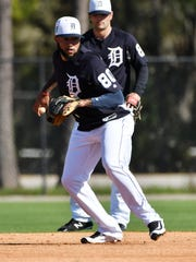 Non-roster infielder Ronny Rodriguez hit .297 in 37 at-bats this spring for the Tigers.