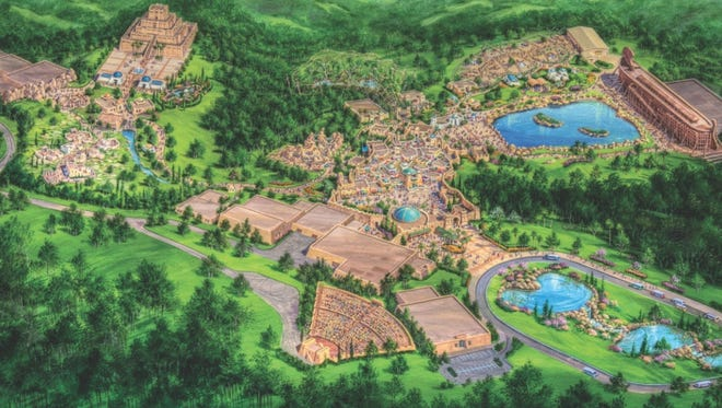 Rendering of what the Ark Encounter will look like.