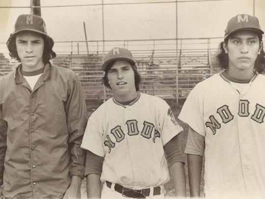 Unidentified Moody High School baseball players circa