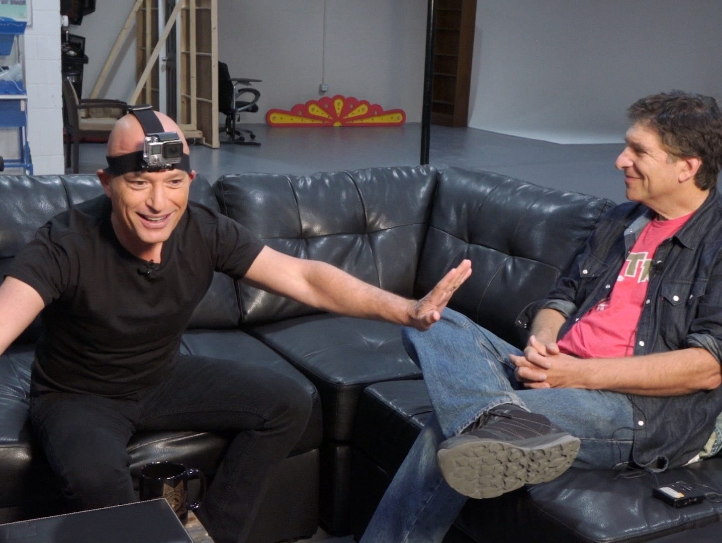Comedian Howie Mandel dons a GoPro during a celebrity #TalkingTech interview.