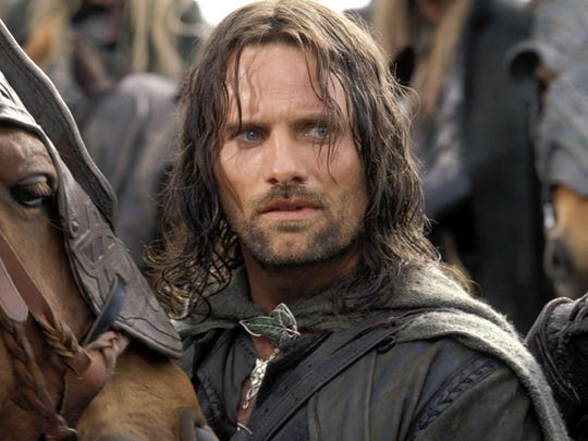 """Viggo Mortensen as Aragorn in """"The Lord of the Rings: The Two Towers"""" (2002)."""