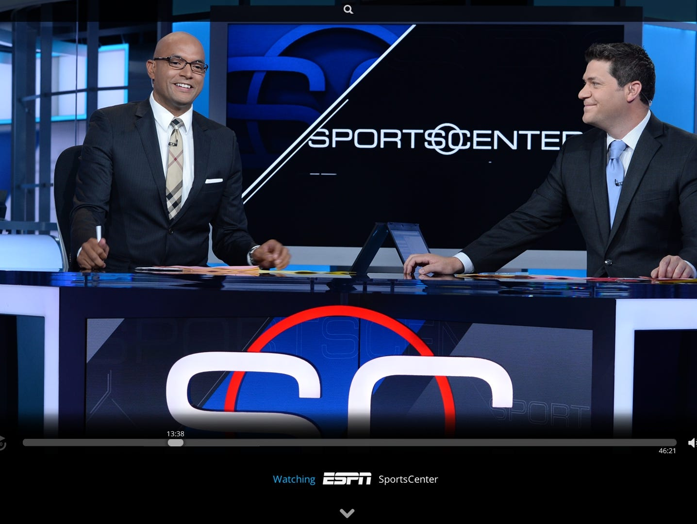 ESPN as seen on the Sling TV streaming video service.