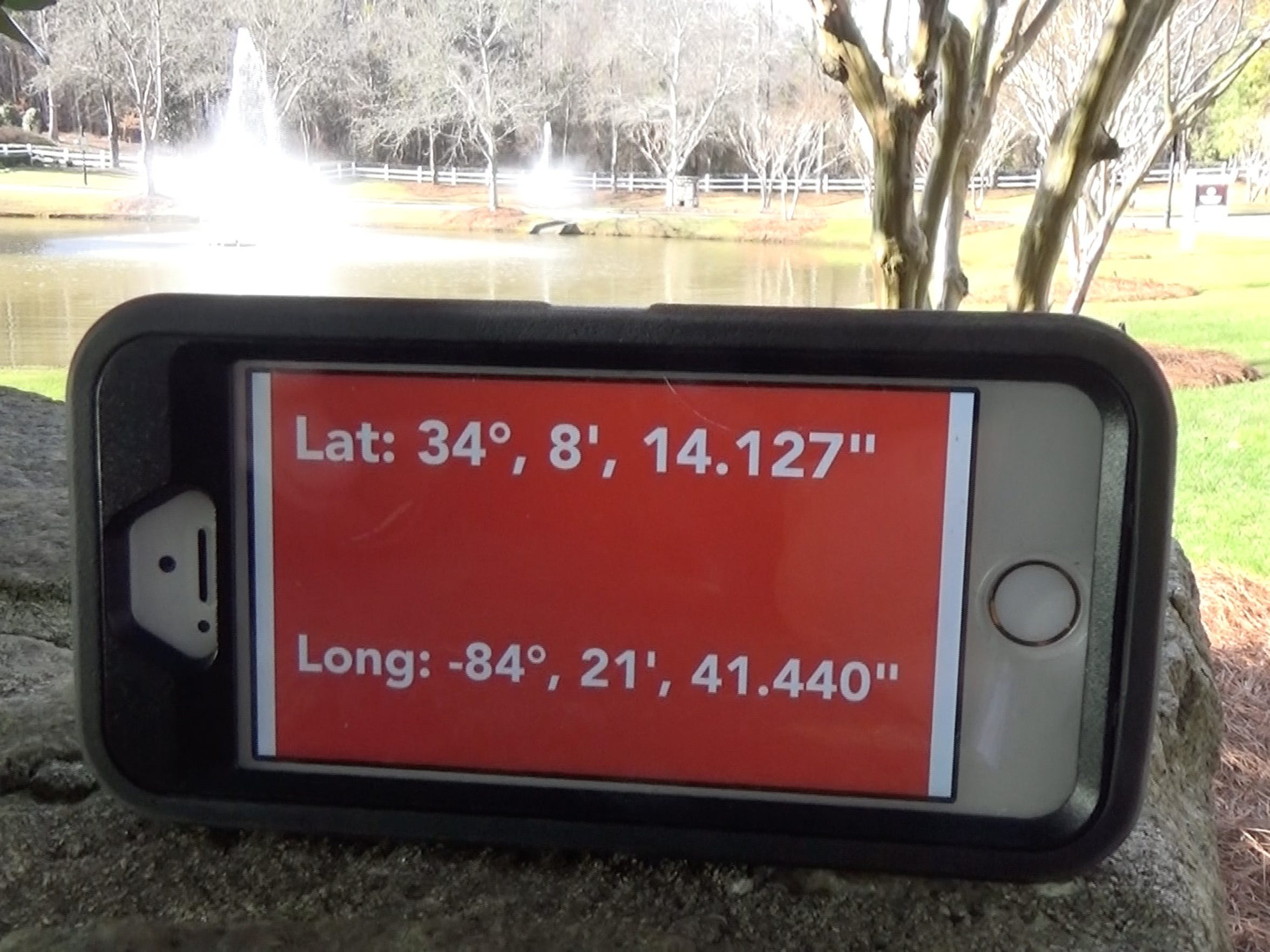 Coordinates of the pond Shanell Anderson's vehicle