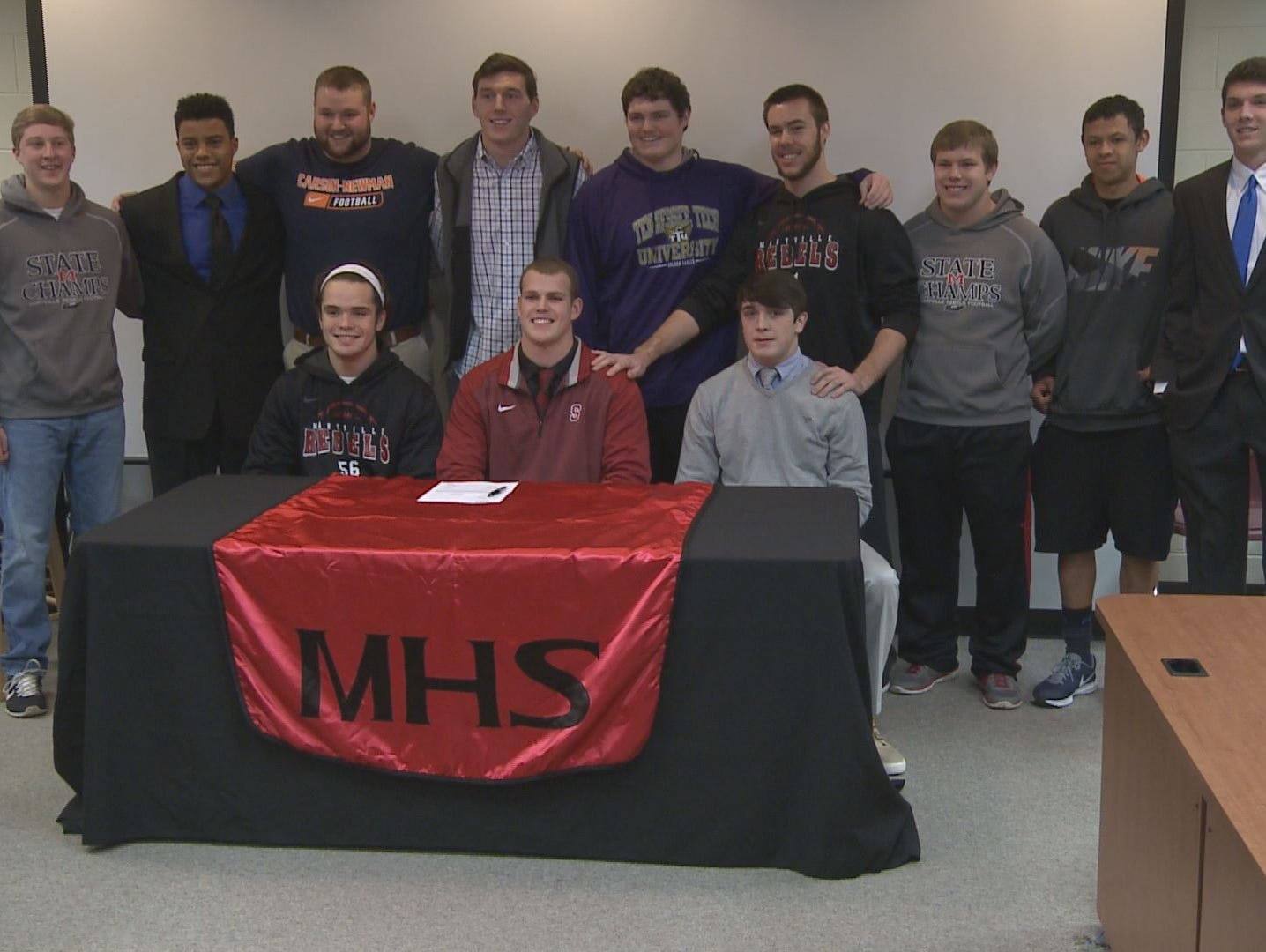 Students at Maryville High School's National Signing Day event