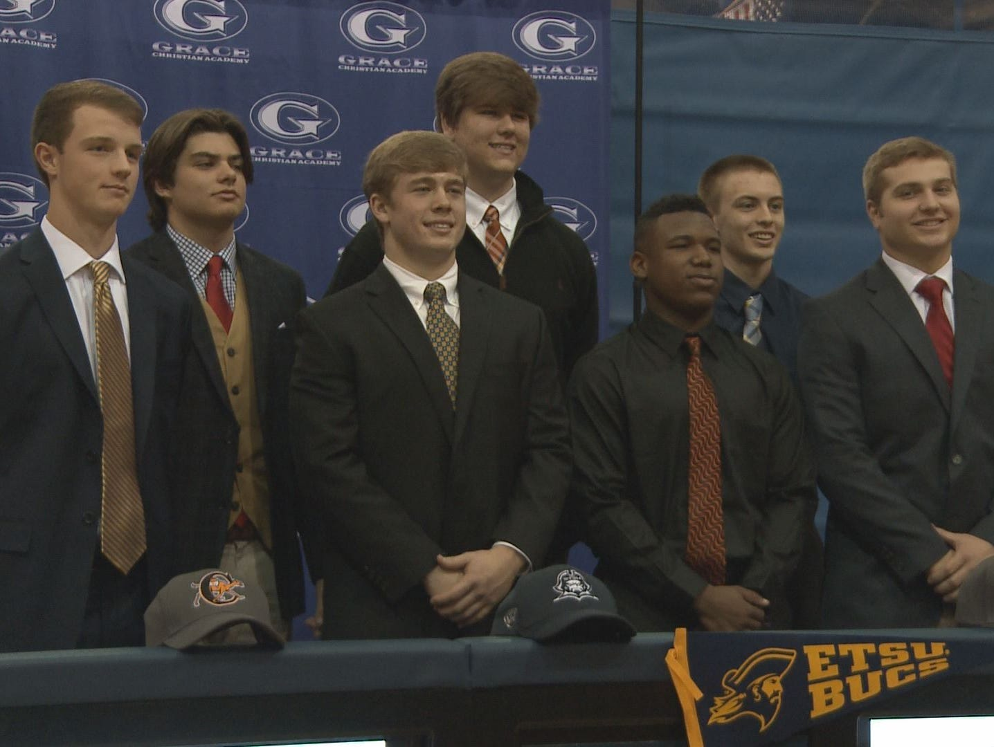 Seven Grace Christian Academy seniors will be playing football at the next level