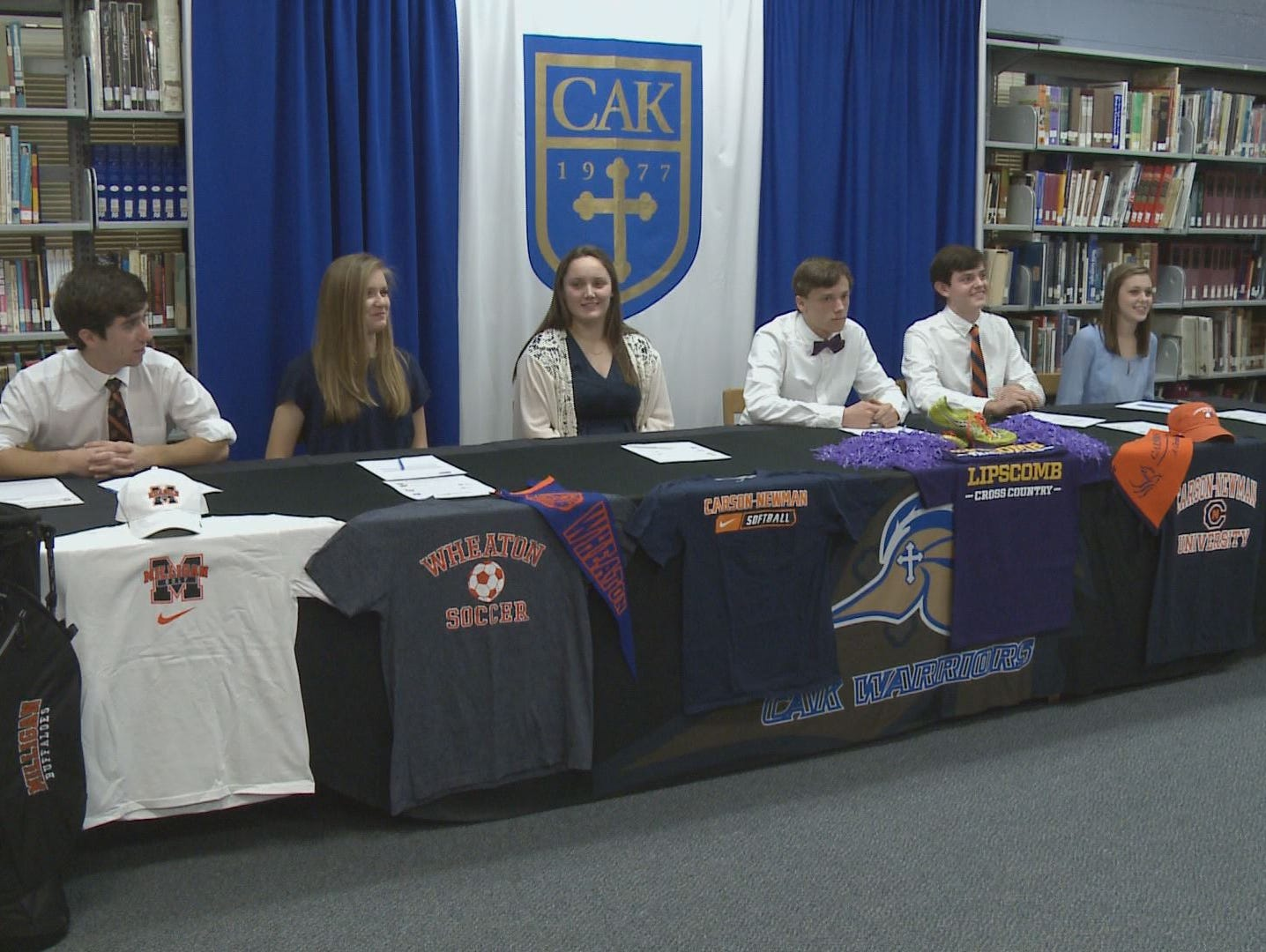 Students participate in National Signing Day at CAK