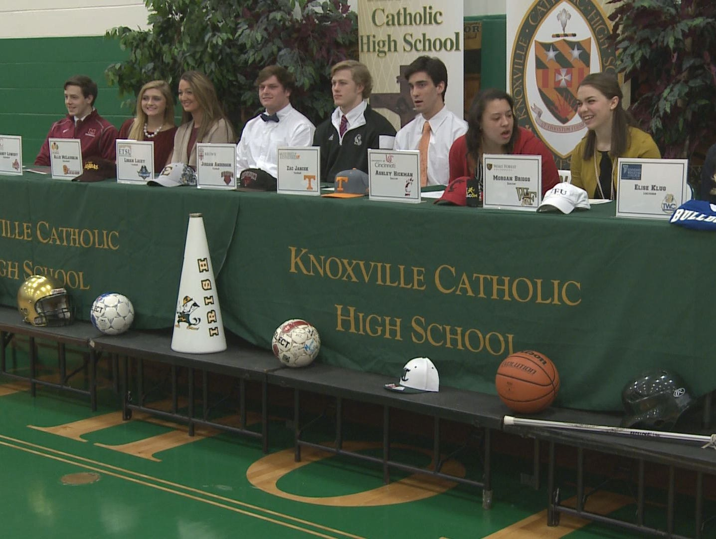 Knoxville Catholic High School's 2015 National Signing Day ceremony