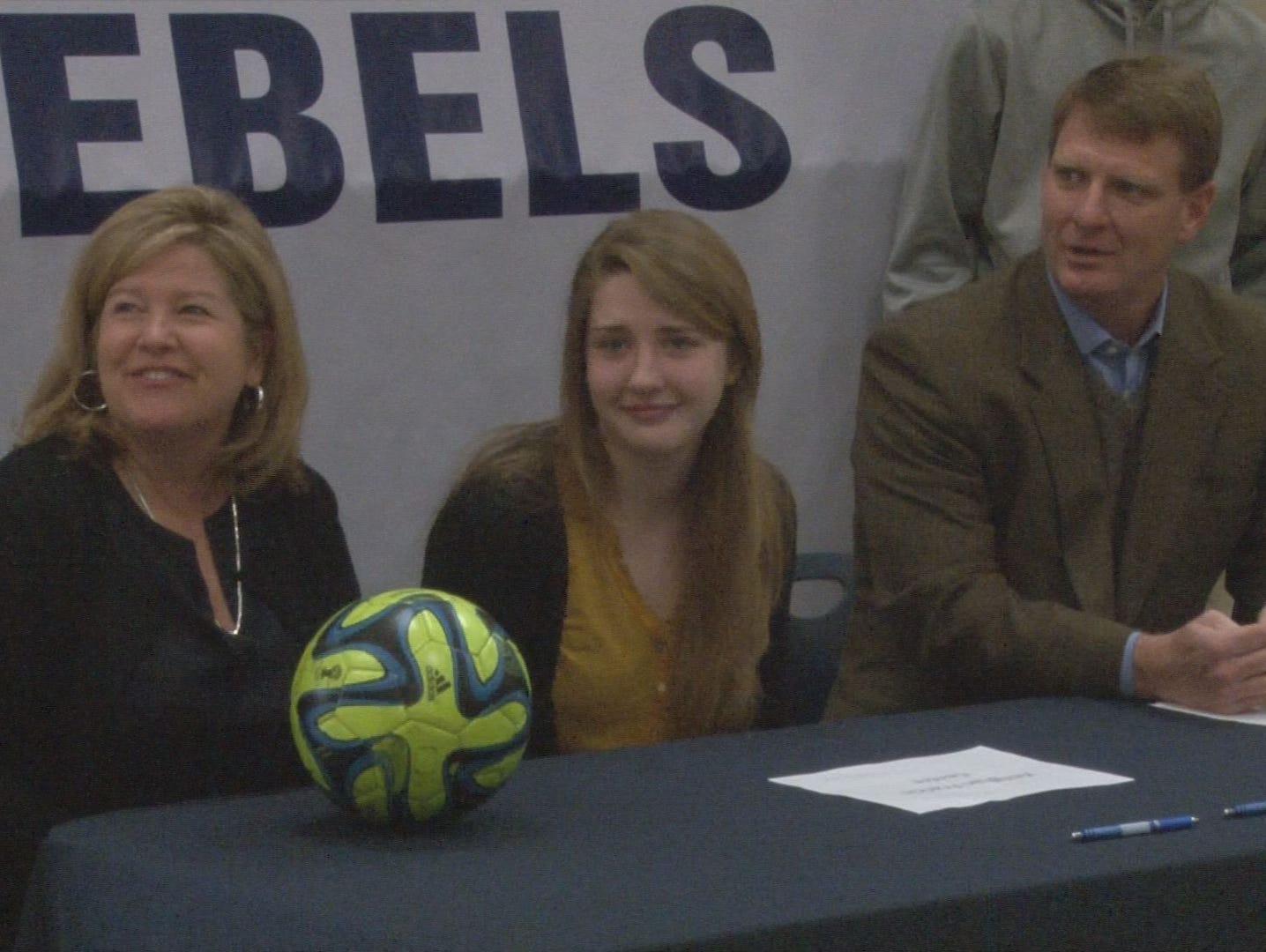 Keeghan Francis, West, during a National Signing Day ceremony