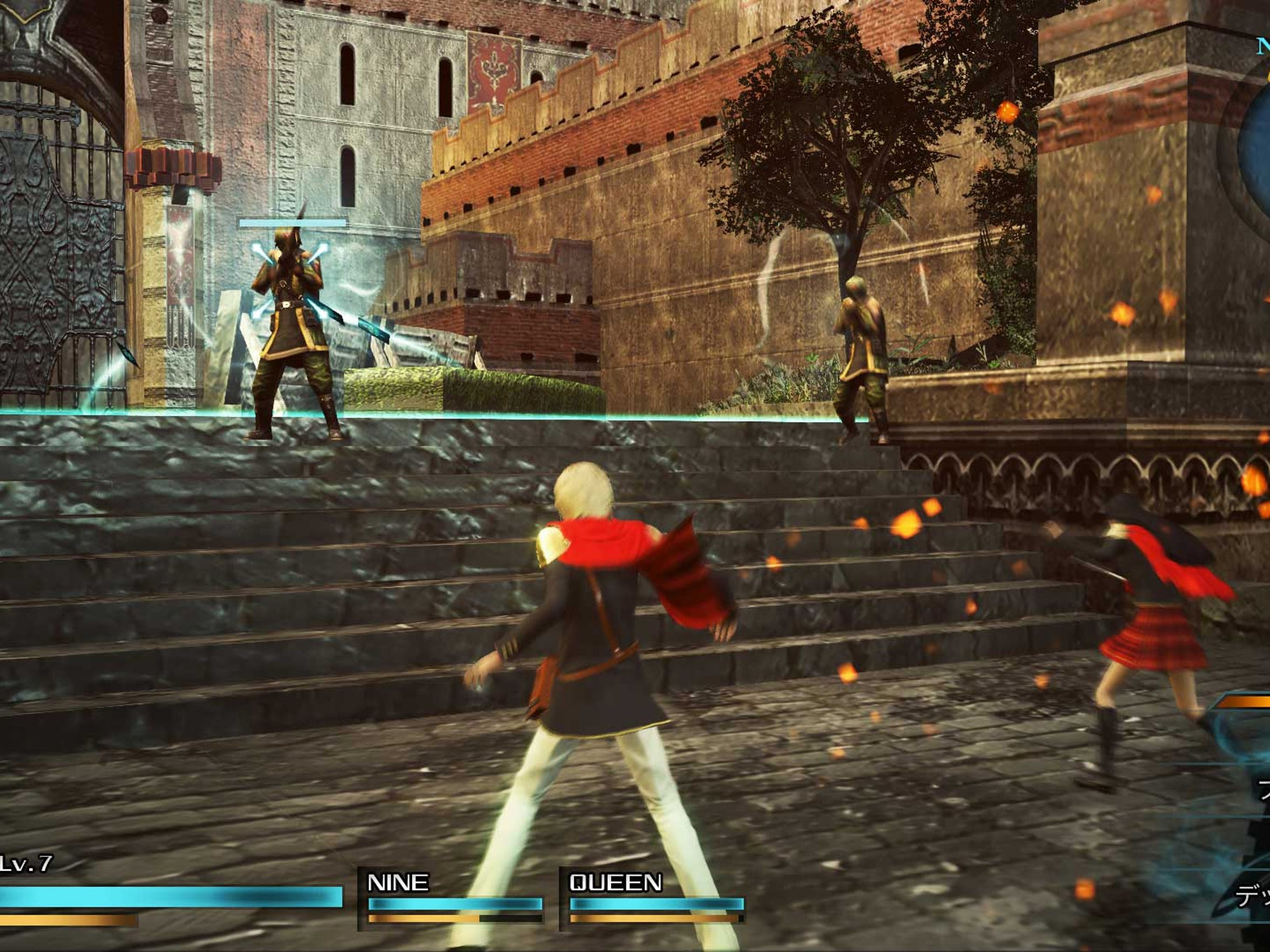 "Battles in ""Final Fantasy Type-0 HD"" occur in real"
