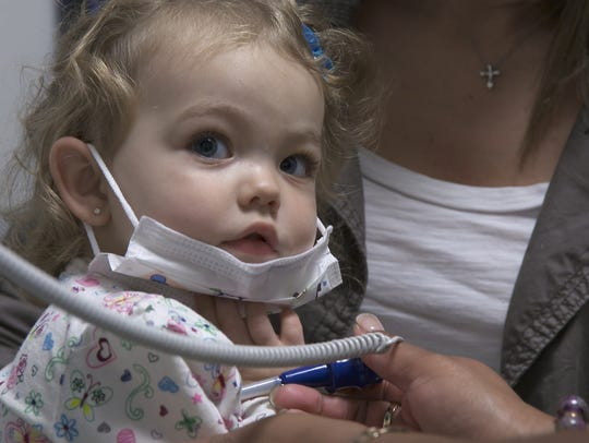 Olivia Blair was just 14 months old when she was treated