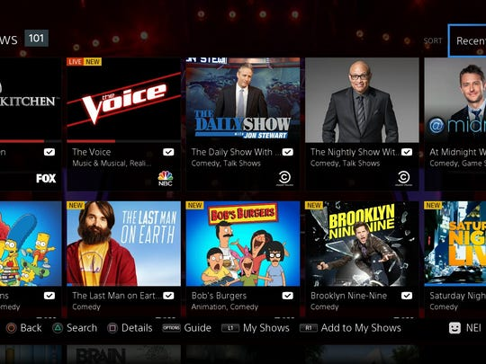 A screenshot from the new Sony PlayStation Vue online