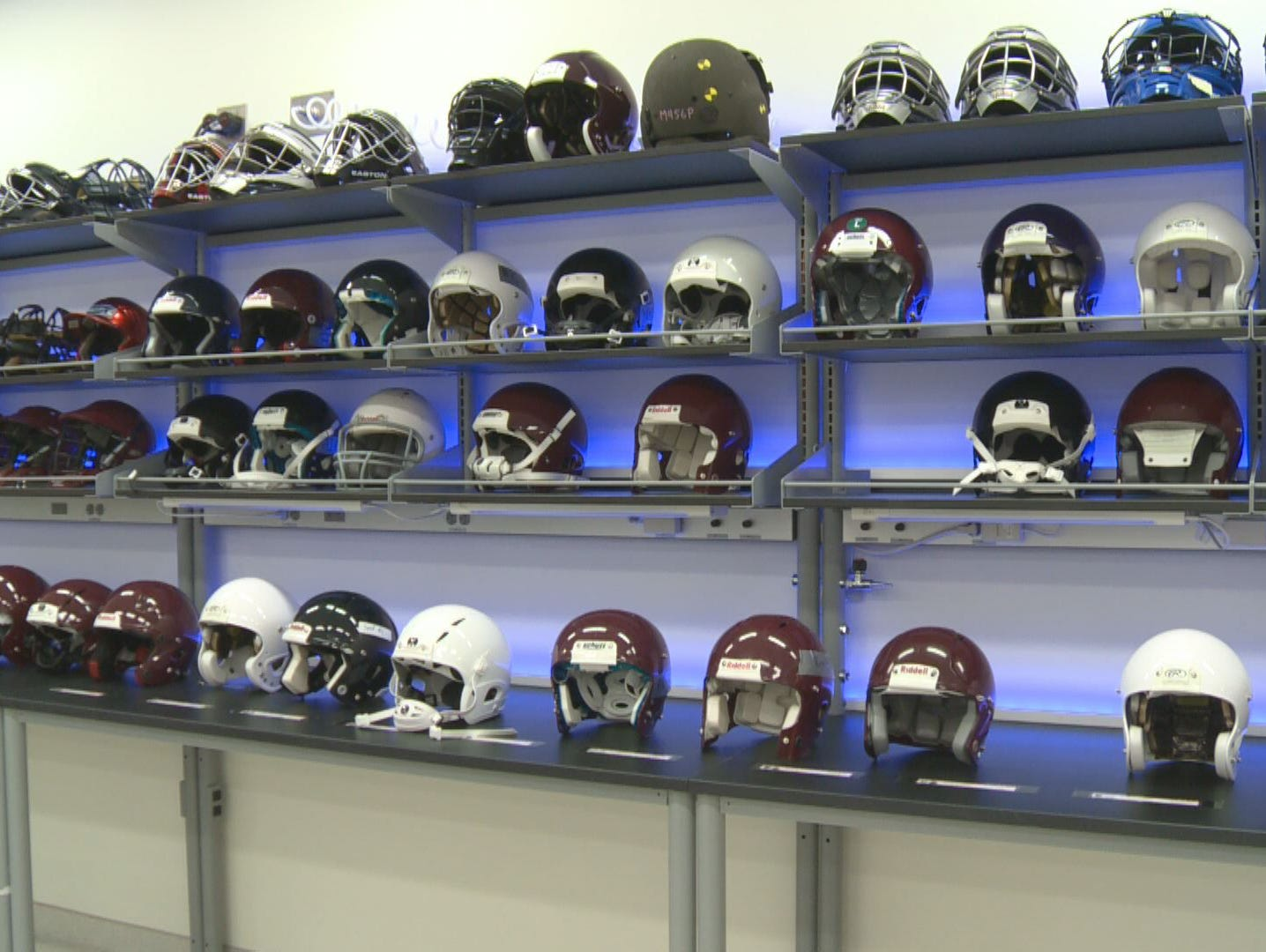 Research showing safest football and hockey helmet to ...