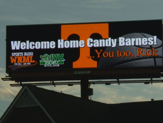 Billboards Welcome New Coach And Ut Grad Wife To Town