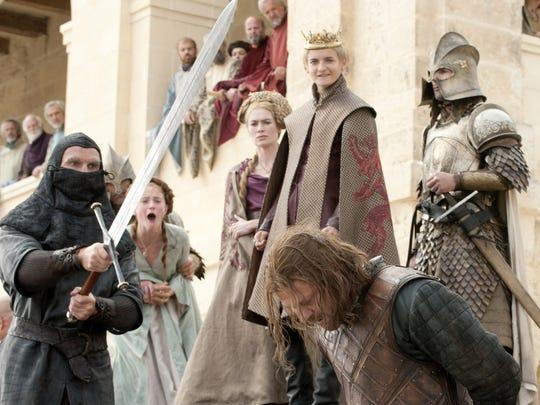 Ned Stark (Sean Bean) prepares to lose his head in