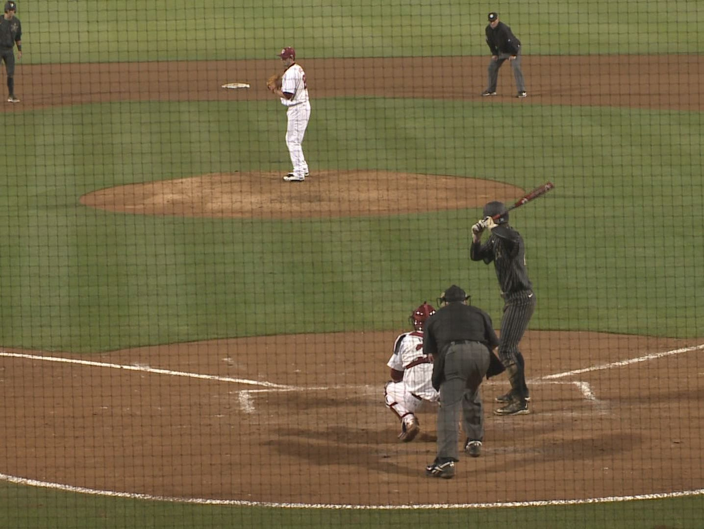 The Gamecocks trailed 1-0 in the sixth before fourth-ranked Vanderbilt scored four runs in the sixth and seventh innings.