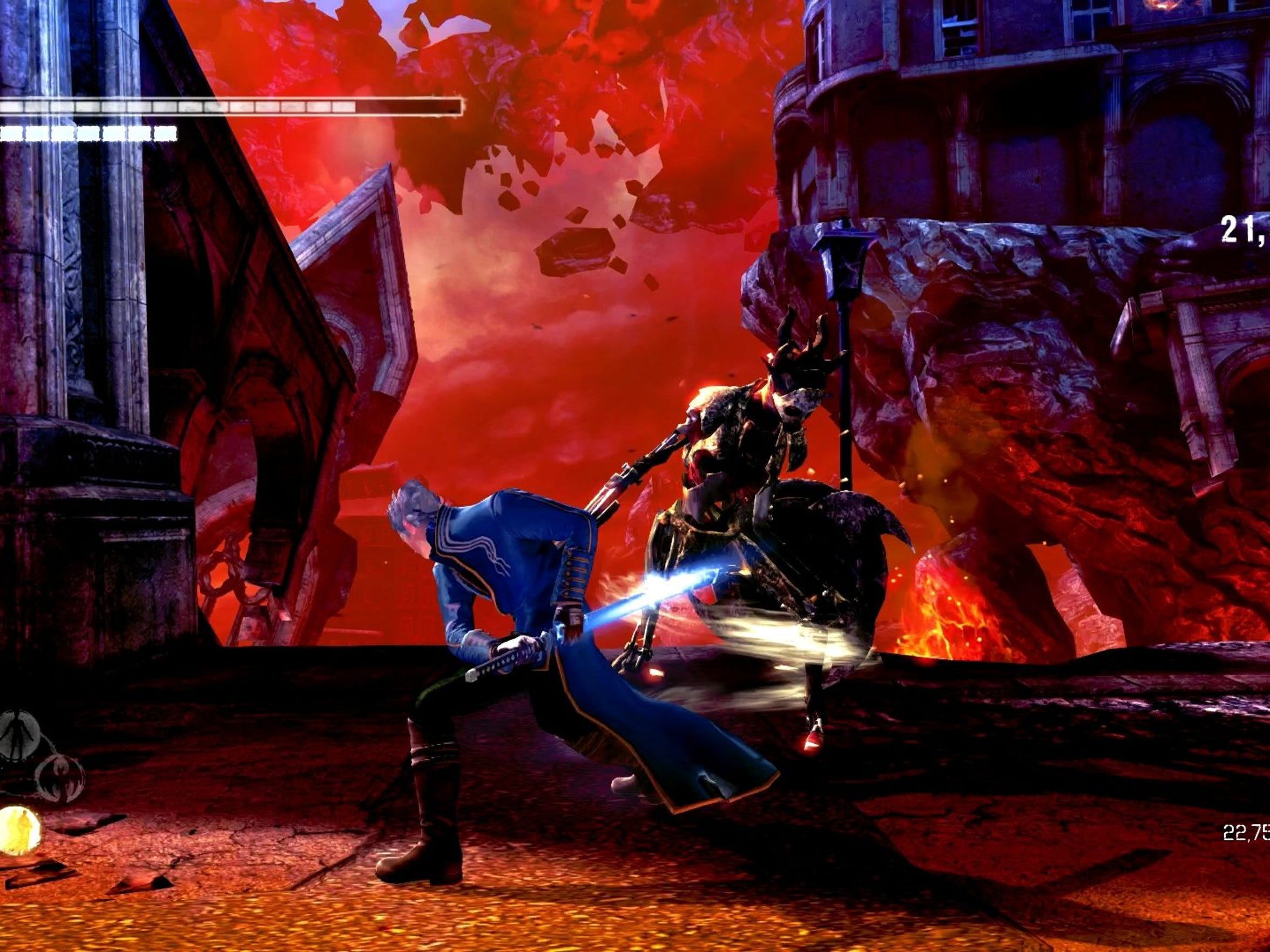 "OH BROTHER: Play as Vergil right off the bat in his own story adventure in ""DmC: Devil May Cry Definitive Edition."""