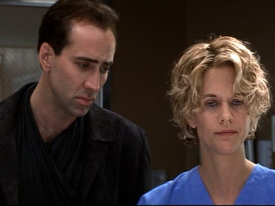 """Nicolas Cage and Meg Ryan in """"City of Angels."""""""