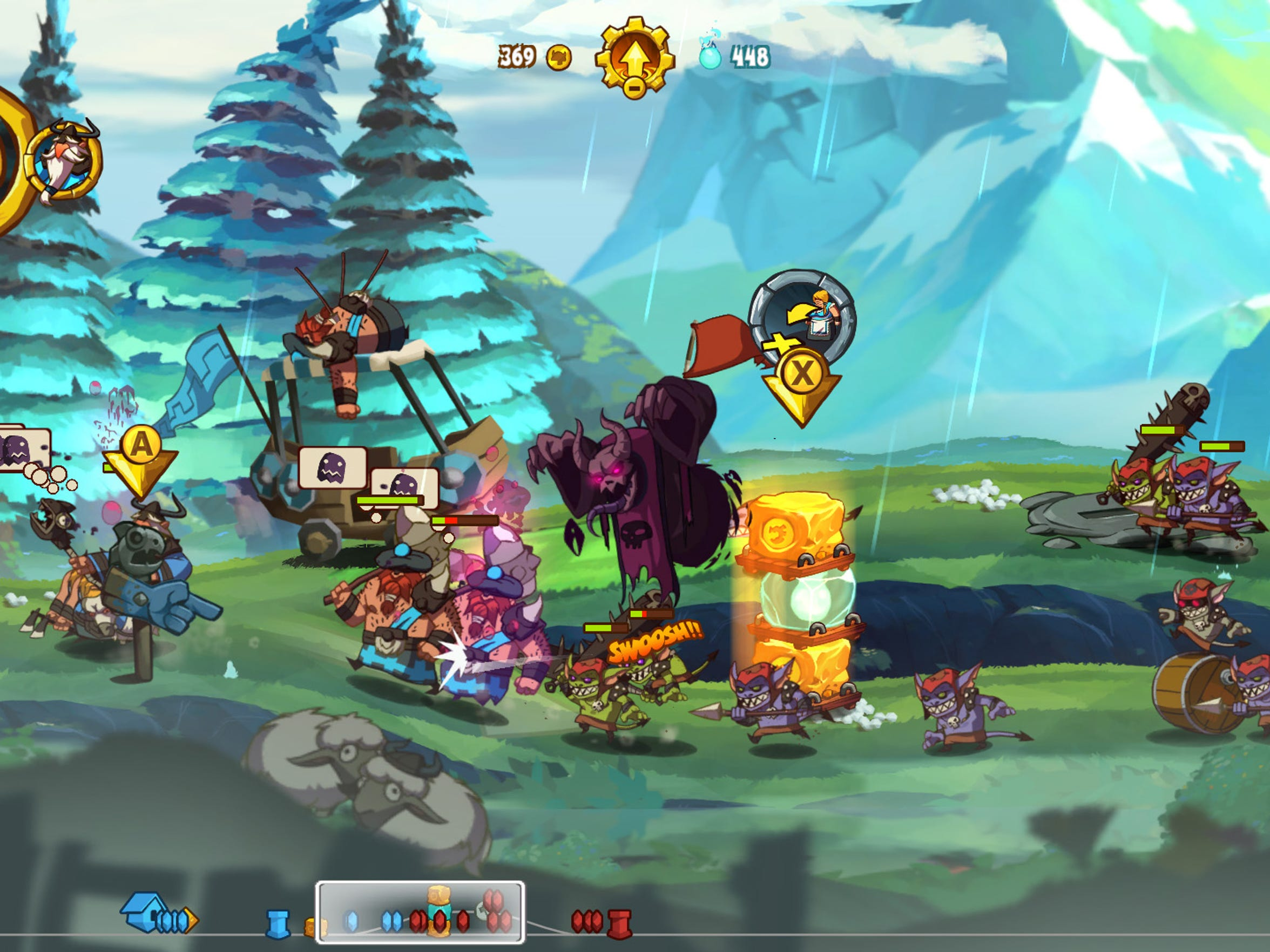Play as Vikings, Demons and Persians in Ronimo's irreverent sidescrolling strategy game for Nintendo's Wii U console.