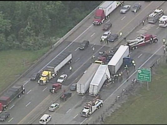 KSP: 2 separate accidents shut down I-65S Wednesday afternoon