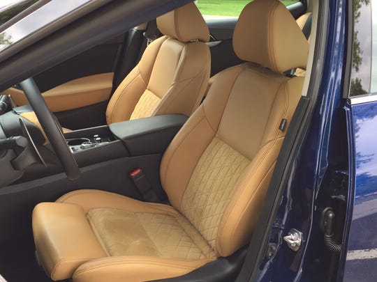 The Maxima's interior features ritzy materials like