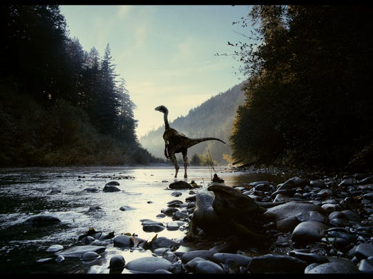 Dinosaurs are part of director Terrence Malick's sweeping