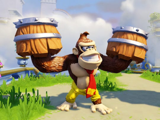 nintendo stars donkey kong and bowser to invade new skylanders game