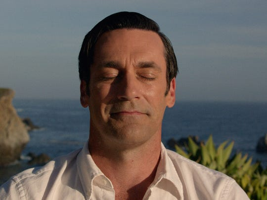 Jon Hamm as Don Draper in series finale of 'Mad Men.'