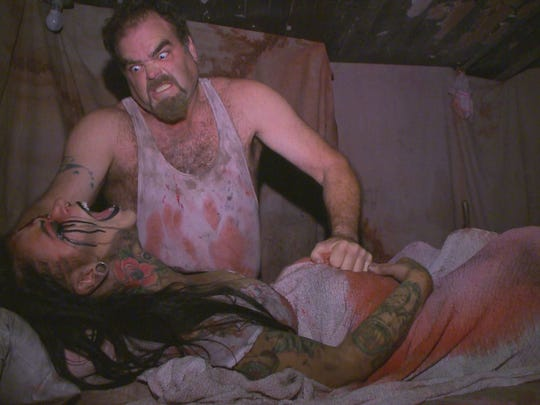 WARNING: GRAPHIC CONTENT | Some may find the images depicted in this gallery disturbing. The Haunted Hoochie near Columbus is an extreme haunted attraction with realistic death scenes.
