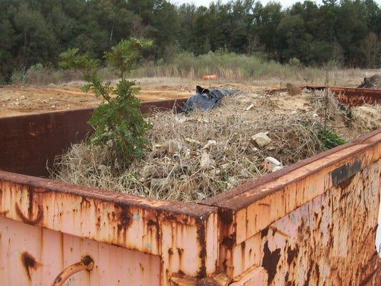 Rolling Hills dumpster