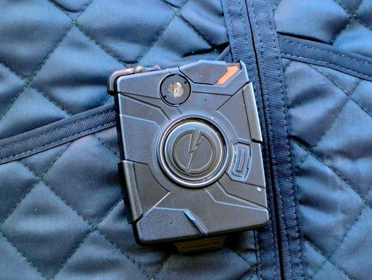 A body worn camera used by the Ithaca Police Department