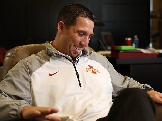 Iowa State head football coach Matt Campbell
