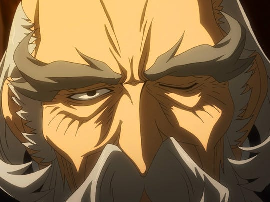 """Makanai flashes his plotting face in Gundam Iron-Blooded Orphans Episode 20, """"Brother."""""""